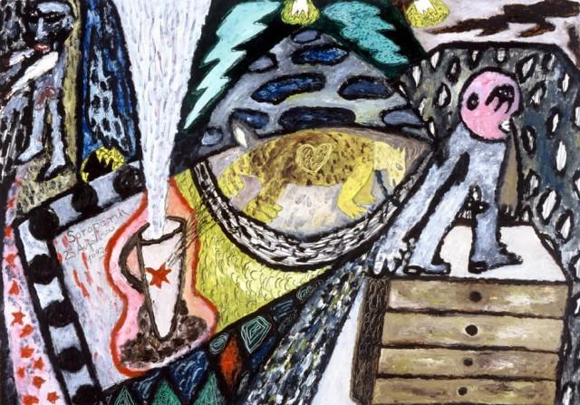Ζωγραφικά έργα μικρών διαστάσεων σε χαρτόνι